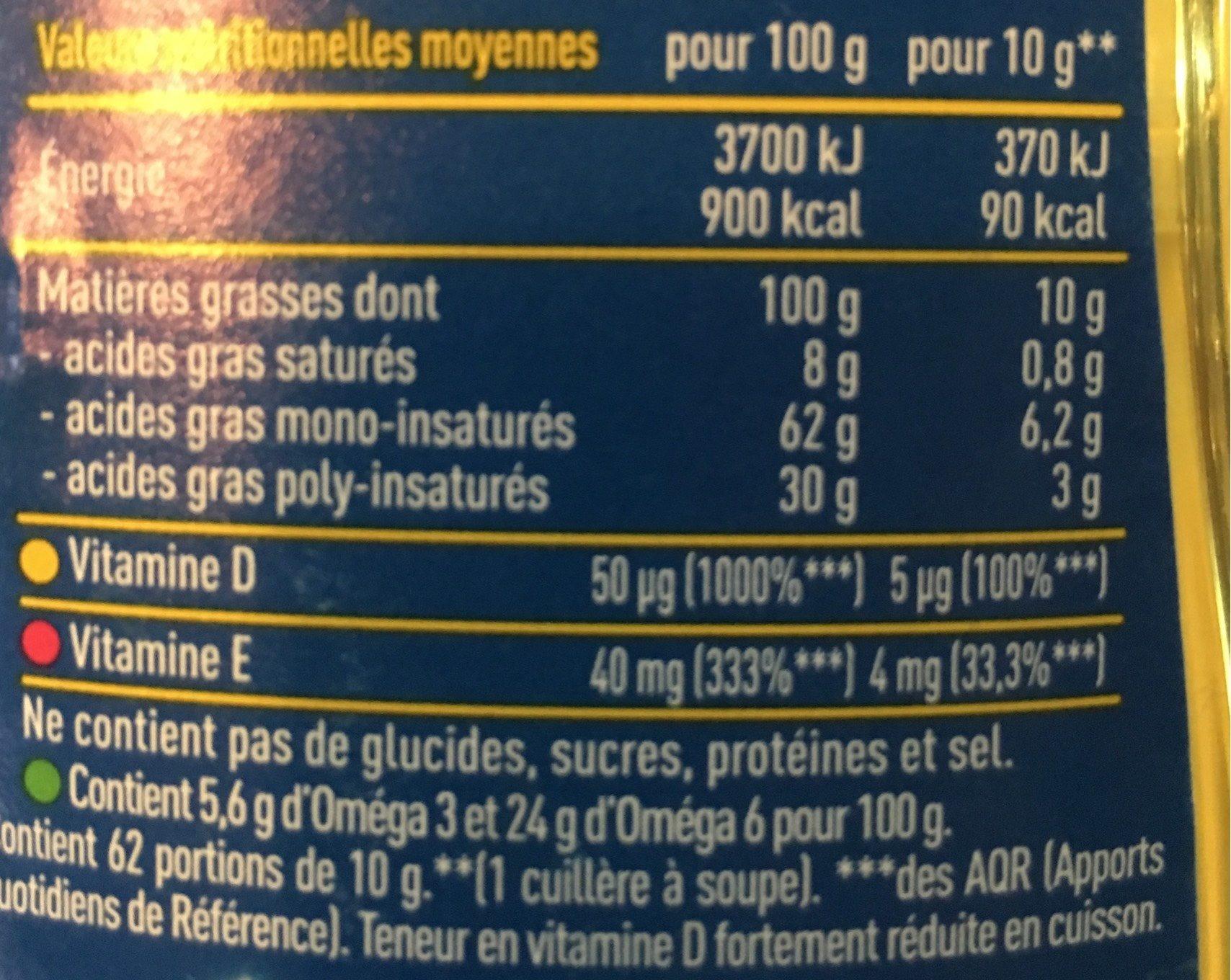 Isio 4 - Información nutricional