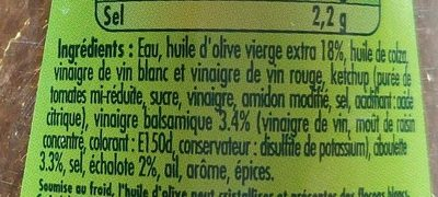 Vinaigrette balsamique huile d'olive - Ingredients - fr