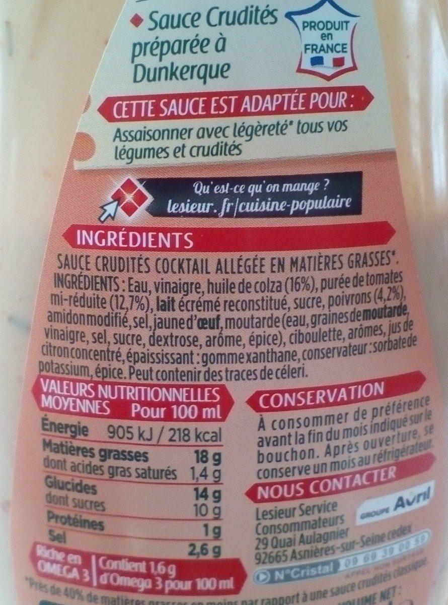 sauce crudités cocktail légère - Ingrediënten
