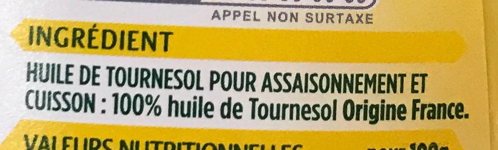 Coeur de Tournesol stop goutte (offre saisonnière) - Ingredients