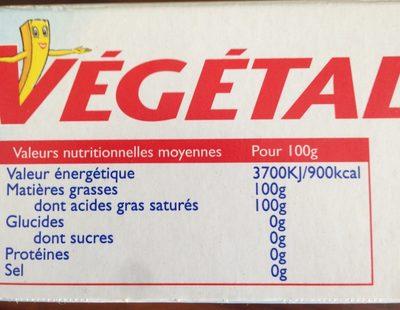 Végétaline - Informations nutritionnelles