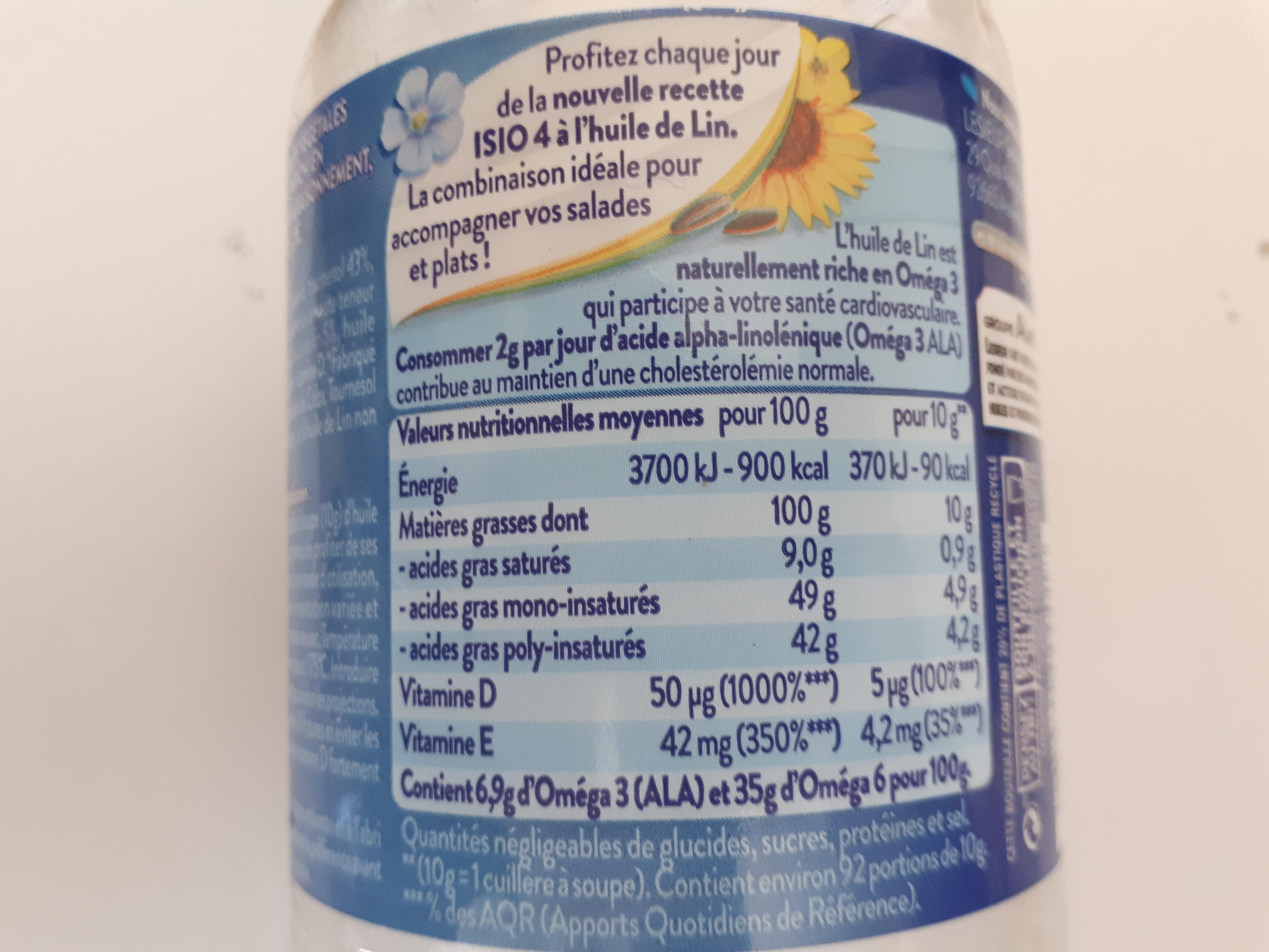 Isio 4 - Valori nutrizionali - fr