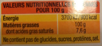 Colza & Noix - Nutrition facts - fr