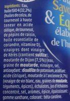 ISIO 4 Vinaigrette Légère - Ingrédients
