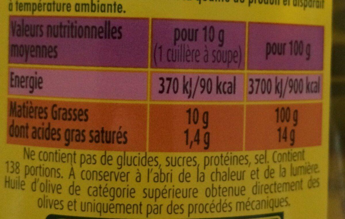 Huile d'olive/cuisson assaisonnement Puget - Ingrediënten