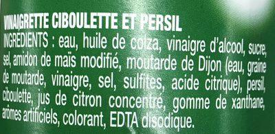 Vinaigrette Ciboulette & Persil - Ingrediënten