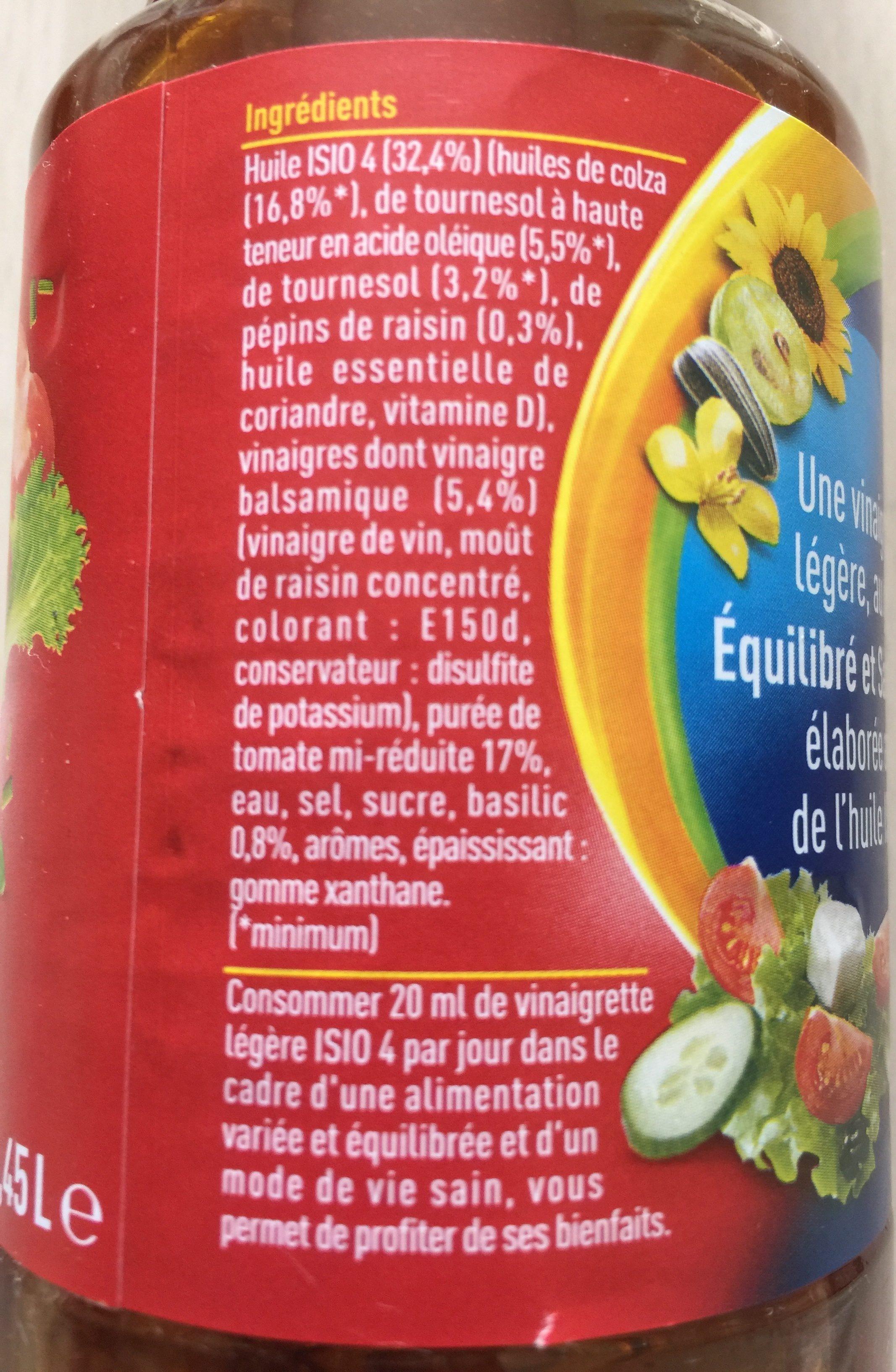 Vinaigrette tomate basilic - Ingrédients - fr
