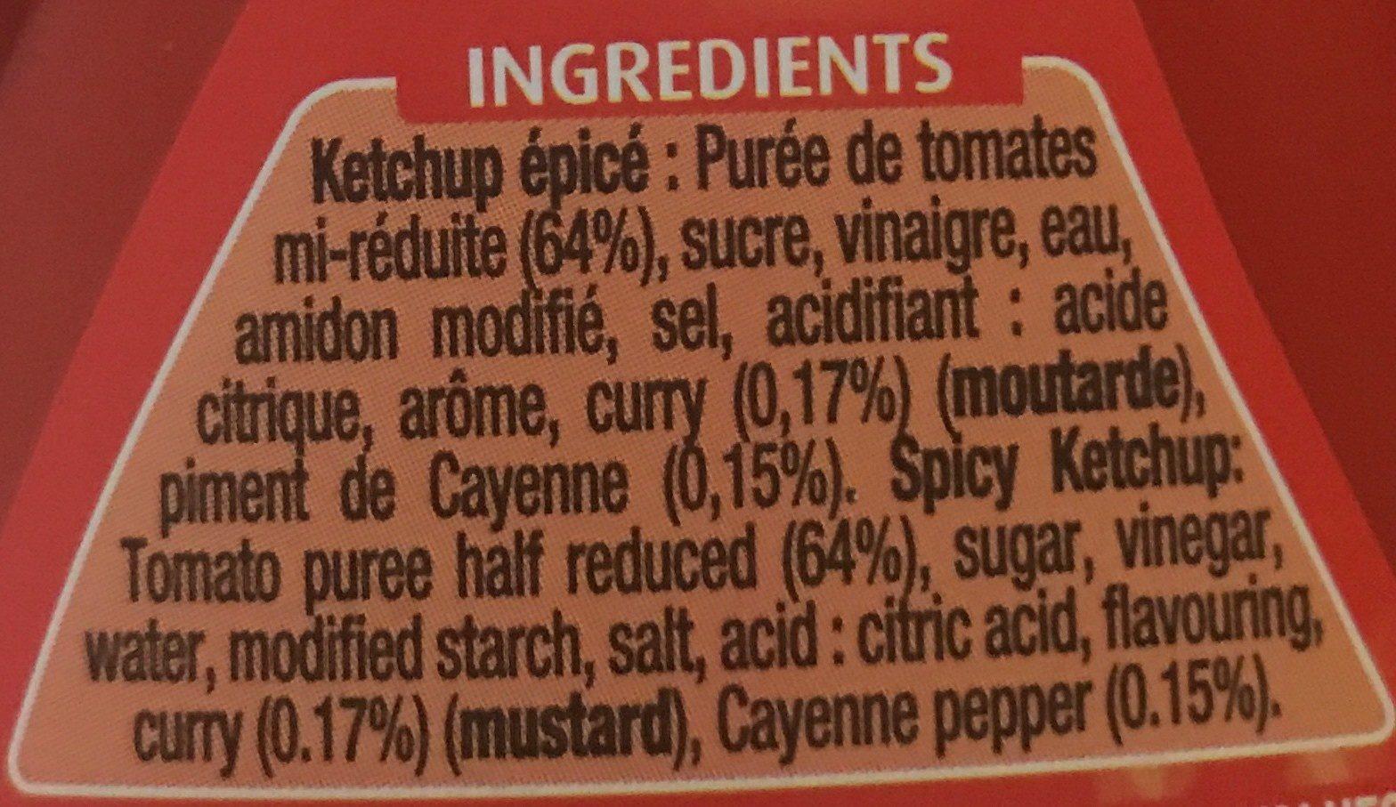 Hot & spicy Ketchup - Ingrédients