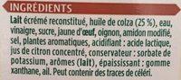 Sauce kebab - Ingredients - fr