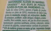Mayonnaise légère - Ingredients