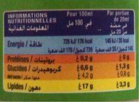 Sauce Salade Légère Huile D'olive & Citron Lesieur - Nutrition facts - fr