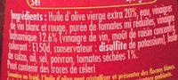 Vinaigrette balsamique Tomates séchées - Ingrédients