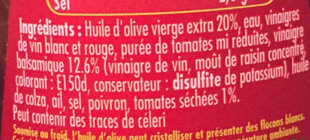 Vinaigrette balsamique Tomates séchées - Ingrédients - fr