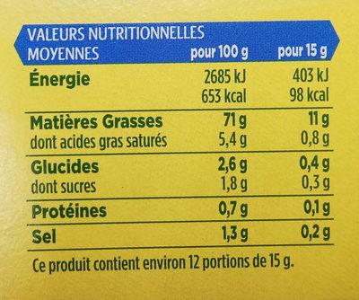 Fine & Douce - Mayonnaise sans moutarde - Informations nutritionnelles - fr