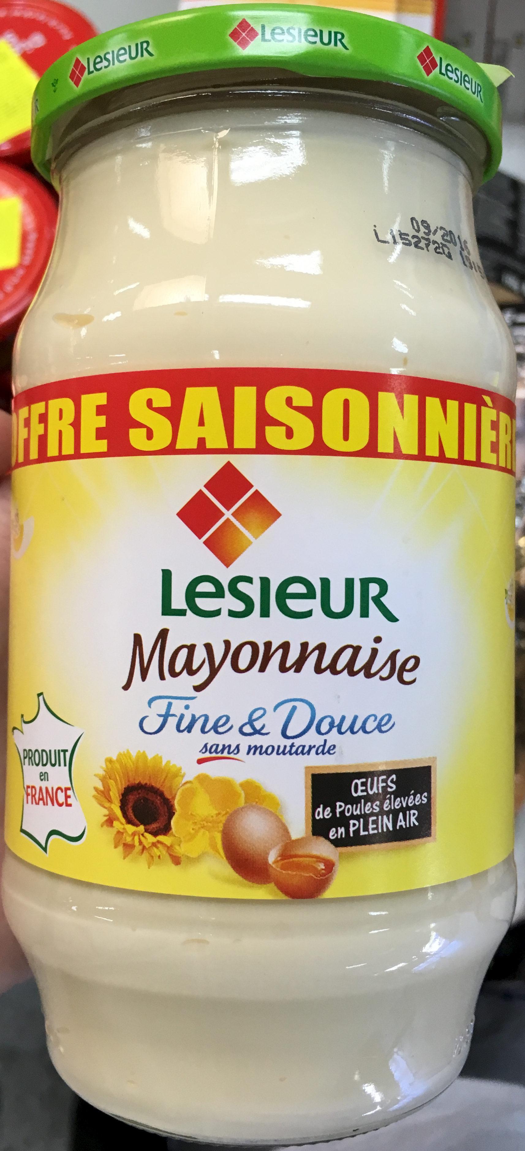 Mayonnaise Fine & Douce sans moutarde (offre saisonnière) - Product - fr