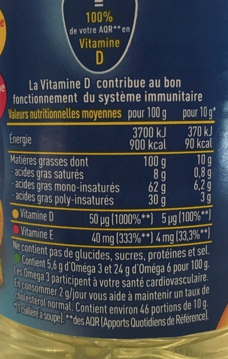 Huile Isio 4 - Nutrition facts - fr