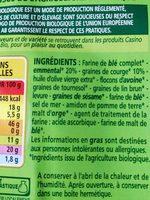 Crackers Emmental et Graines de courge - Ingrédients