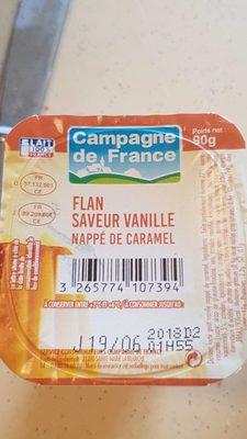 Flan, saveur vanille, nappé caramel - Produit - fr