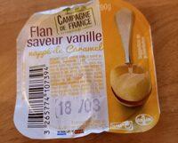 Flan, saveur vanille, nappé caramel - Informations nutritionnelles - fr