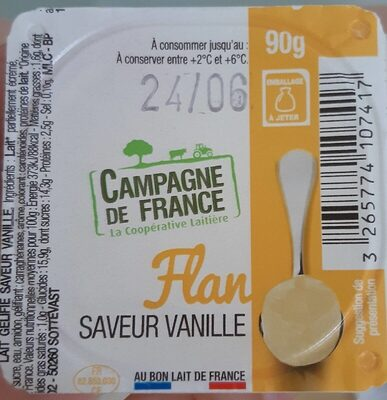 Flan, saveur vanille - Produit - fr