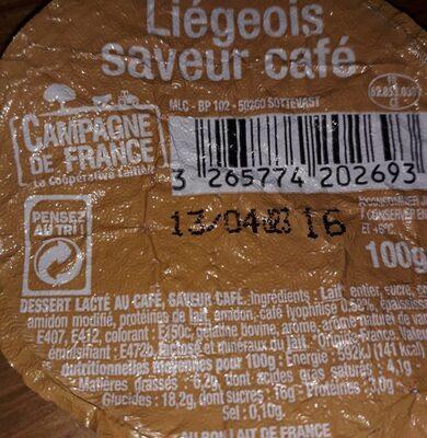 Liégeoise Cafe - Ingrédients - fr