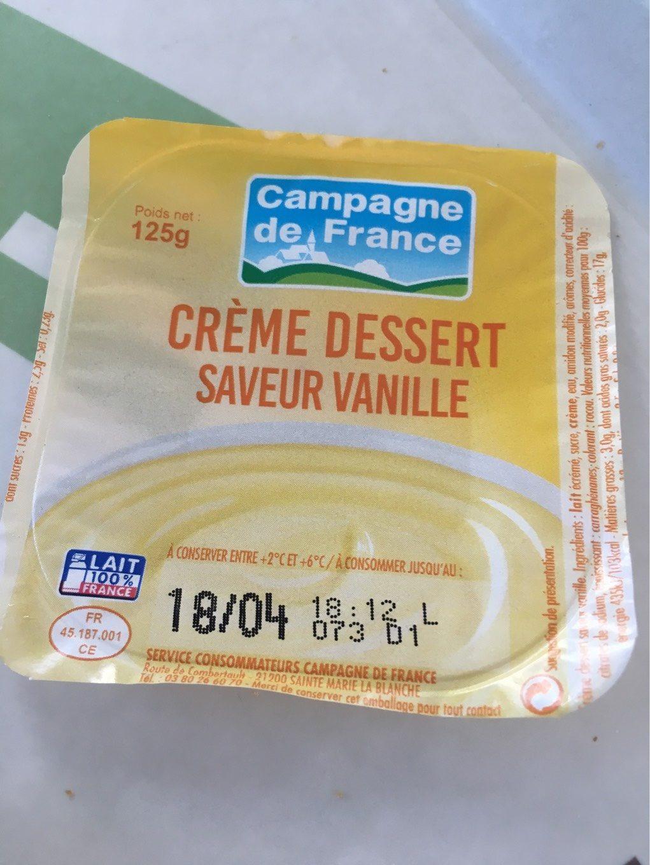 cr me dessert saveur vanille campagne de france 500 g. Black Bedroom Furniture Sets. Home Design Ideas