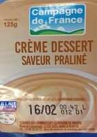 Crème Dessert Saveur Praliné - Produit - fr