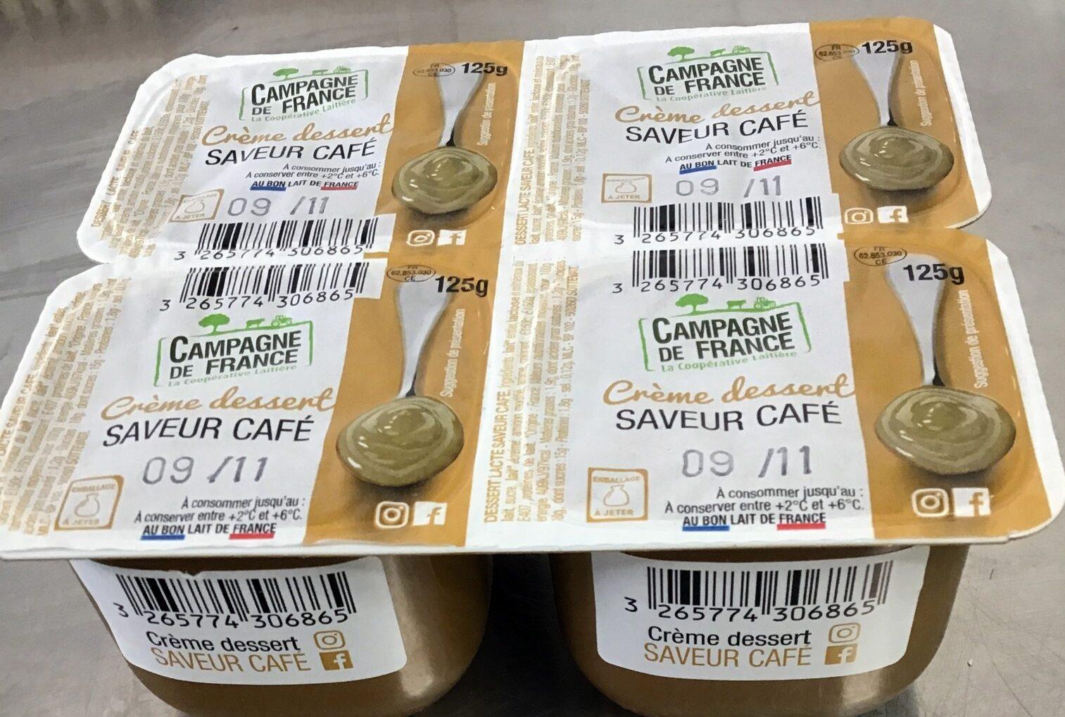Crème dessert saveur café - Produit - fr