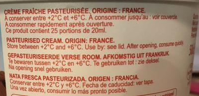 Crème fraîche de normandie - Ingrédients
