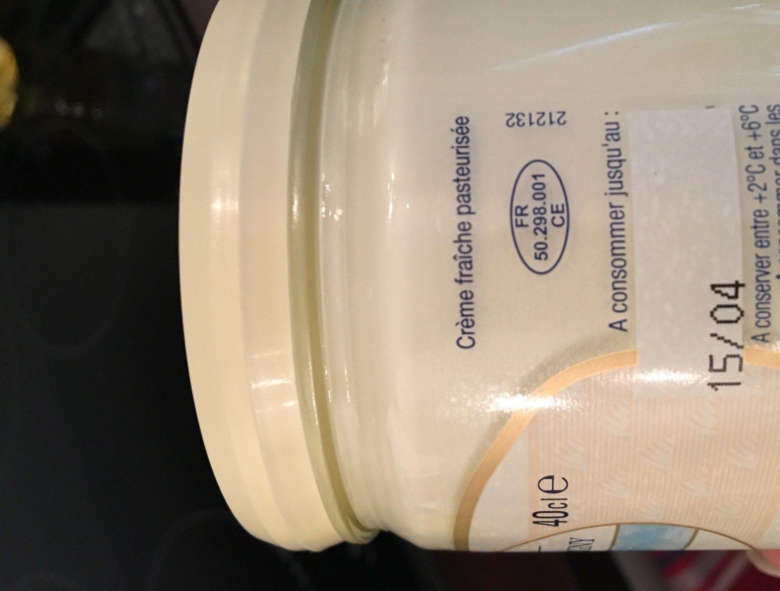 Crème Fraîche d'Isigny (38% MG) - Ingredients
