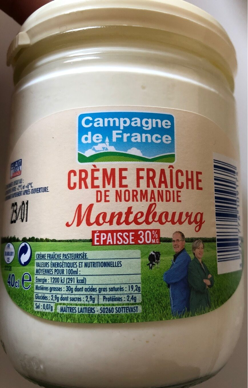 Creme fraiche de Normandie Montebourg épaisse 30% - Produit - fr