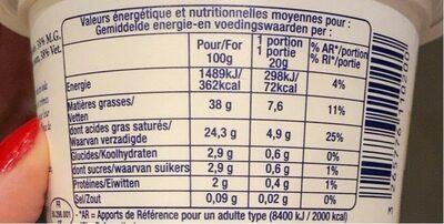 Creme fraiche - Nutrition facts - fr