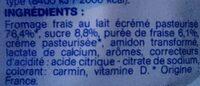 Fromage frais à la Fraise - Ingredients