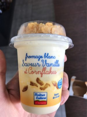 Fromage blanc saveur vanille et cornflakes - Product