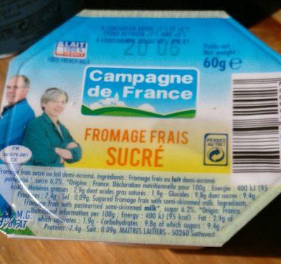Fromage frais sucré - Produit - fr