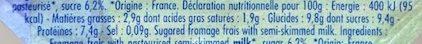 Fromage frais sucré - Informations nutritionnelles - fr