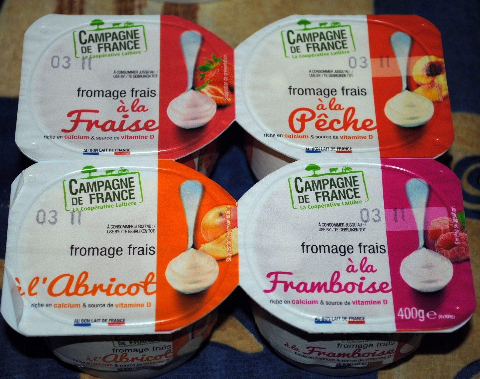 Fromage Frais aux Fruits 2% M.G. - Produit