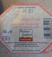 Fromage frais au lait de Normandie 0% M.G. - Product