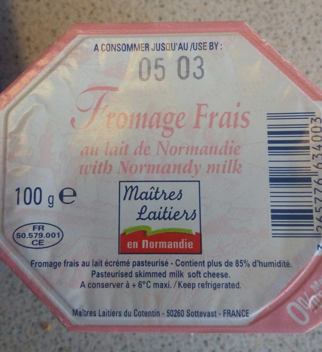 Fromage frais au lait de Normandie 0% M.G. - Produit - fr