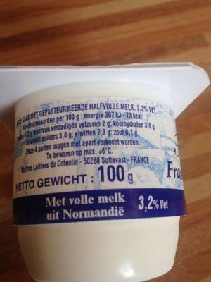 Fromage frais Maître Laitier 20%mg - Ingredients
