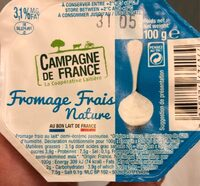 Fromage frais nature - Voedingswaarden - fr