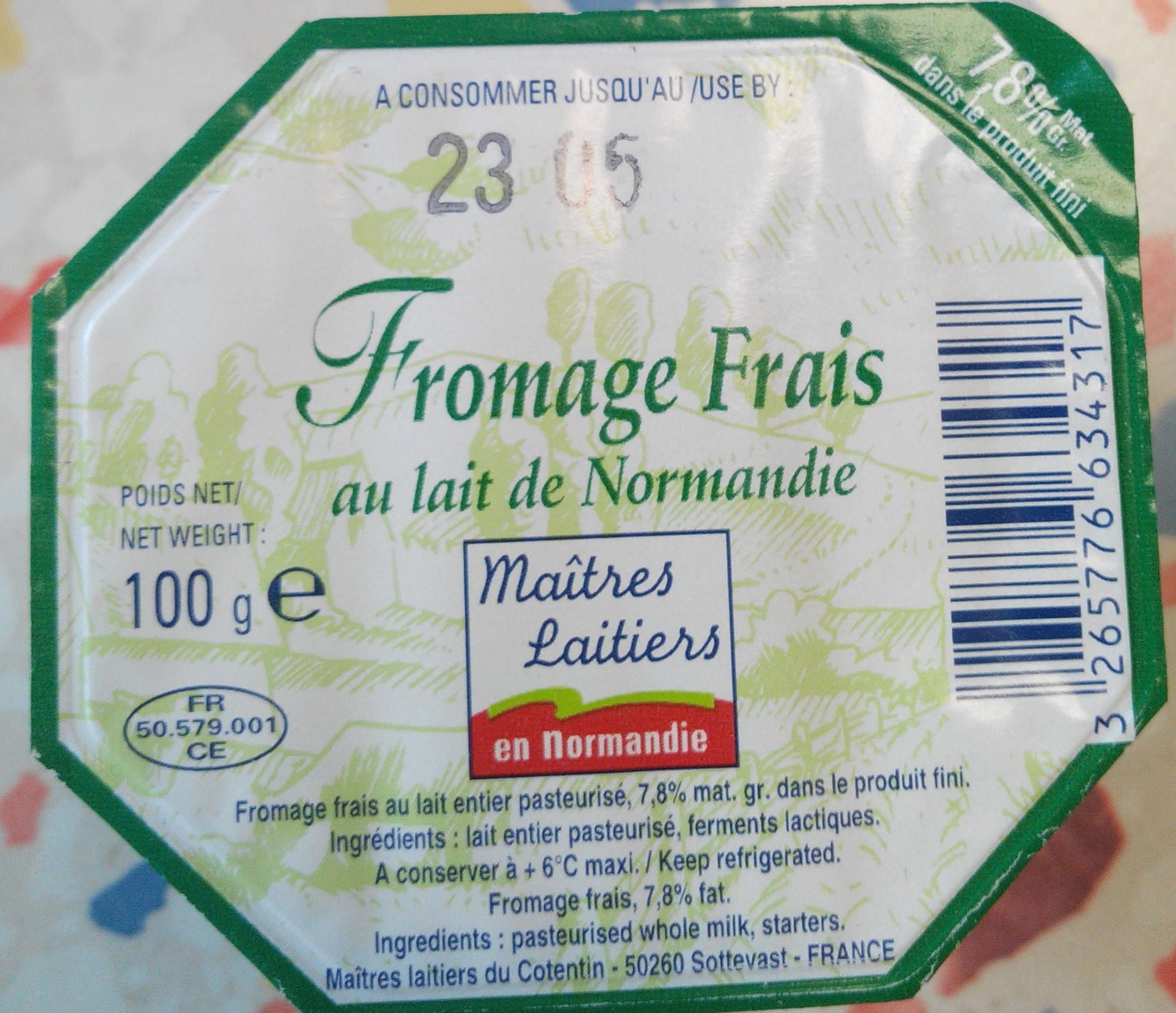 Fromage frais au lait de normandie maitres laitiers en normandie 100 g - Quantite de fromage par personne ...