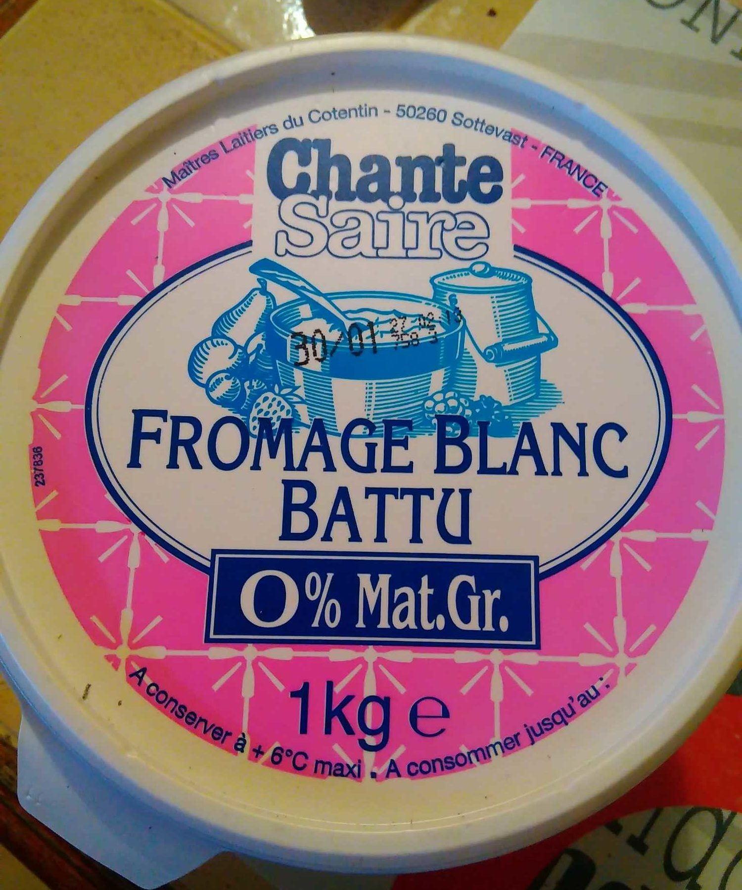Fromage blanc Battu  0% - Produit - fr