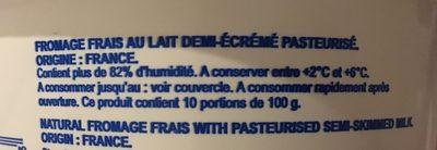 Fromage Frais Onctueux - Ingrédients - fr