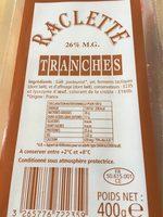 Raclettes Tranches - Produit - fr