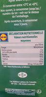 Lait fermenté - Informations nutritionnelles - fr