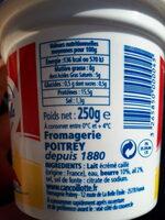 Cancoillotte Ail - Ingrédients