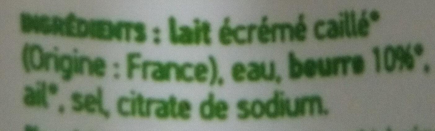 Cancoillotte Ail Bio - Ingrédients - fr