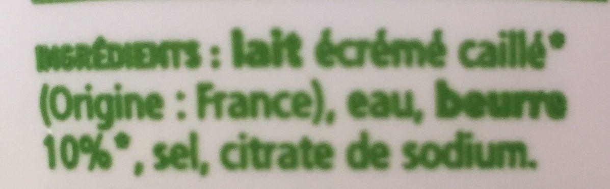 Cancoillotte La Belle Etoile Pot Bio - Ingredients