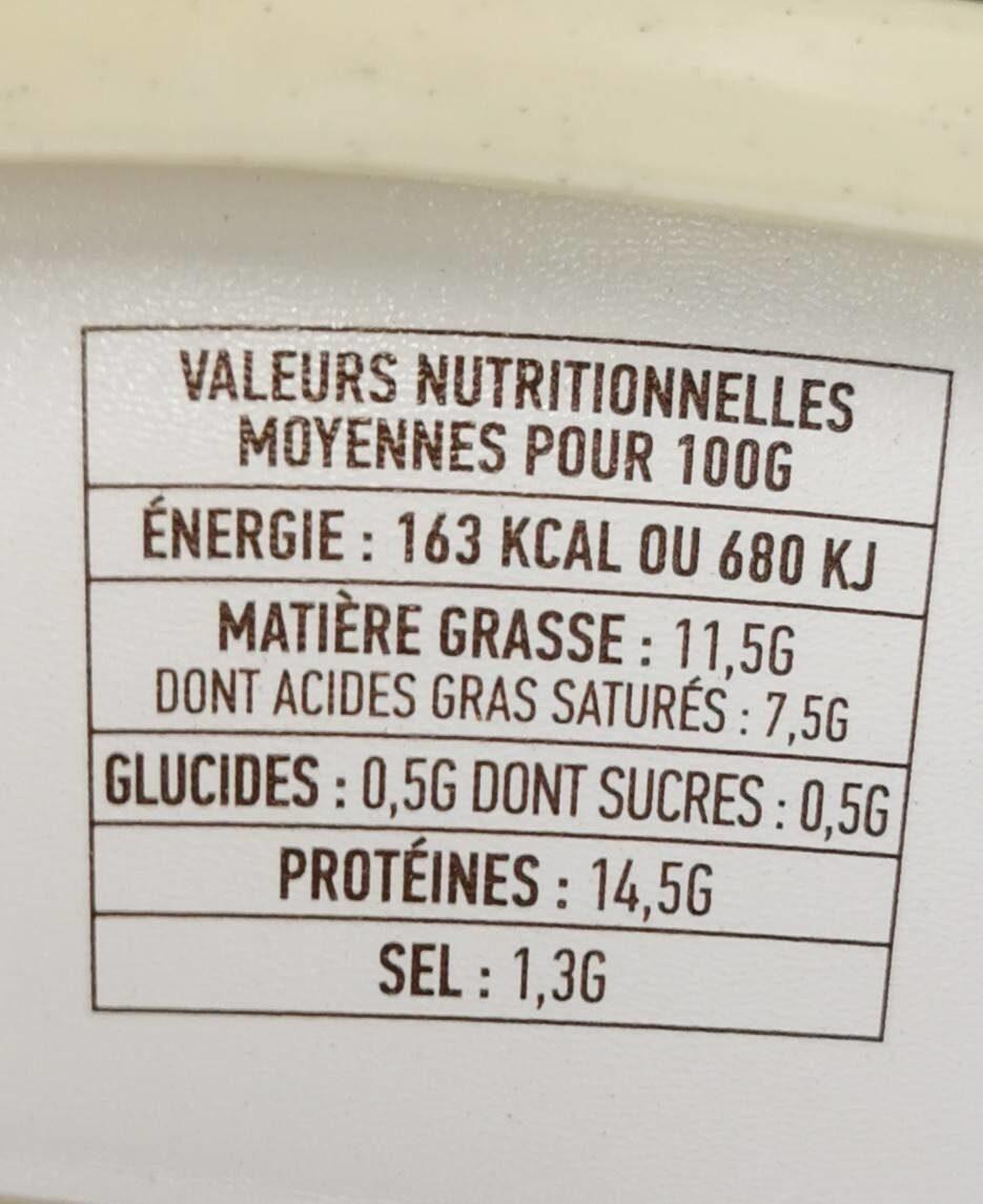 Cancoillotte gourmande Vin Jaune - Informação nutricional - fr